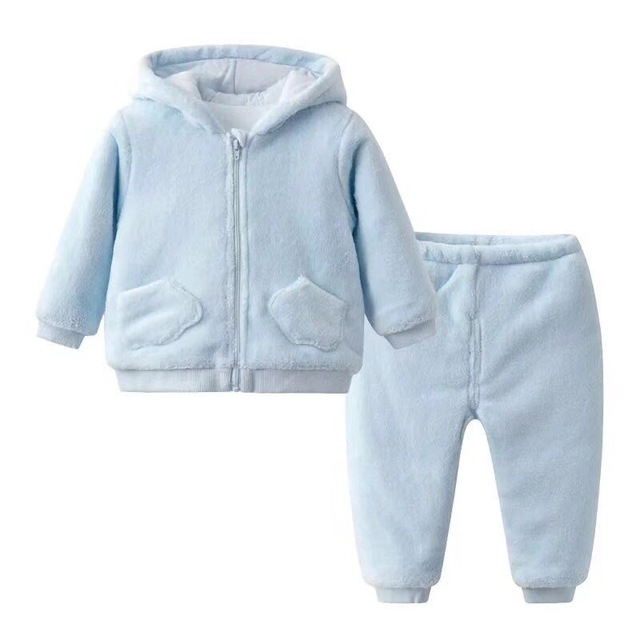 2pcs/set winter Children Clothing Sets cotton Christmas Velvet Thicken Warm Outfit Set Winter Suit for girls boy Kids Clothes