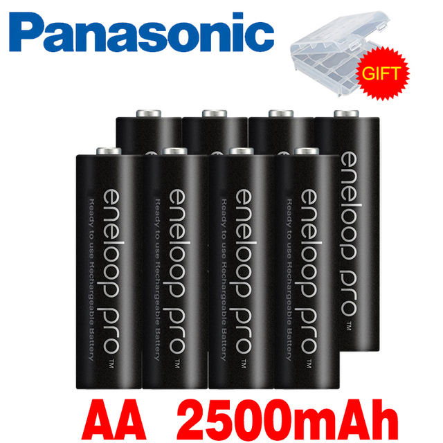 Panasonic Eneloop Original Battery Pro AA 2500mAh 1.2V NI-MH Camera Flashlight Toy Pre-Charged Rechargeable Batteries