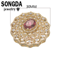 30mm Wholesale High Quality Micro Pave AAA Grade Zircon Geometrical Connector Accessories For Elegant Female Jewelry