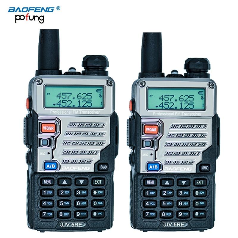 2 PCS Baofeng UV 5RE Walkie Talkie Dual Band CB Radio baofeng UV5R Updated version 5W