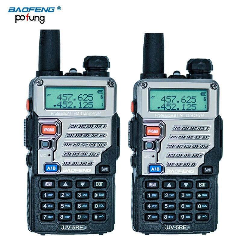 imágenes para 2 UNIDS UV-5RE Walkie Talkie de Doble Banda CB Radio UV5R versión Actualizada 5 W 128CH UHF y VHF portátil de dos forma de radio