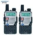 2 unids baofeng uv-5re walkie talkie de doble banda cb radio baofeng uv5r versión actualizada 5 w 128ch uhf y vhf portátil de dos vías radio