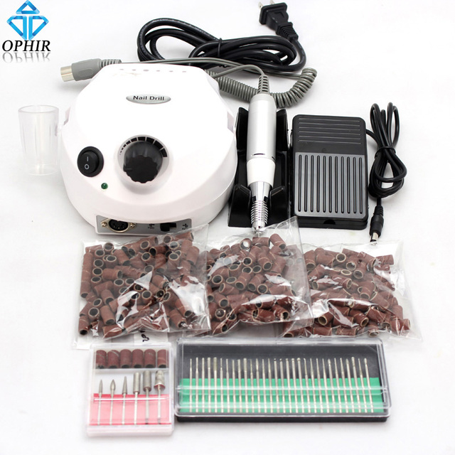 Ophir Pro Electric Nail Drill Machine 30000rpm Acrylic Art Equipment File Bits Manicure Pedicure