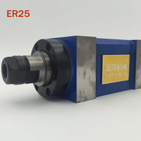 CH002 ER25 Spindle Taper Chuck 0.37KW Power Head Power Unit Machine Tool Spindle Max.RPM 3000rpm for Milling Machine HOT SALE