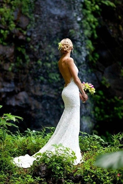 Hot Summer Spaghetti Straps Mermaid Wedding Dresses Sexy Open Back Lace High Quality Bride Gowns In From Weddings Events On