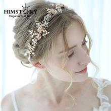 Золотые Кристальные тиары украшение для волос свадебные аксессуары