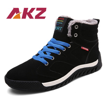 AKZ 2018 New Fashion Winter Warm Snow boots High Quality suede Ankle Boots for man Male Work shoes Round toe Big size 39-48 цена 2017