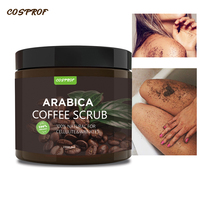 Cosprof Coffee Body Scrub Shea Butter Oil Body Scrub For Exfoliating Whitening Moisturizing Anti Cellulite Treatment