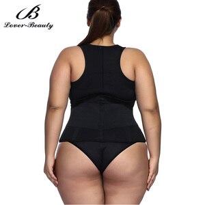 Image 5 - Lover Güzellik Ter Sauna Vücut Şekillendirme Artı Boyutu Neopren Yelek Bel Eğitmen Zayıflama Yelek Shapewear Kilo Kaybı A