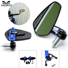 Universal 7/8 22mm handle bar motorcycle end mirror For SUZUKI GSXR600 750 1000 B-KING GSX-S1000 SV650/S TL1000S