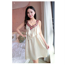 Free Shipping2016 New  summer style Nightgown Nightdress pijama Ladies Sleepwear Women nightwear AZ604