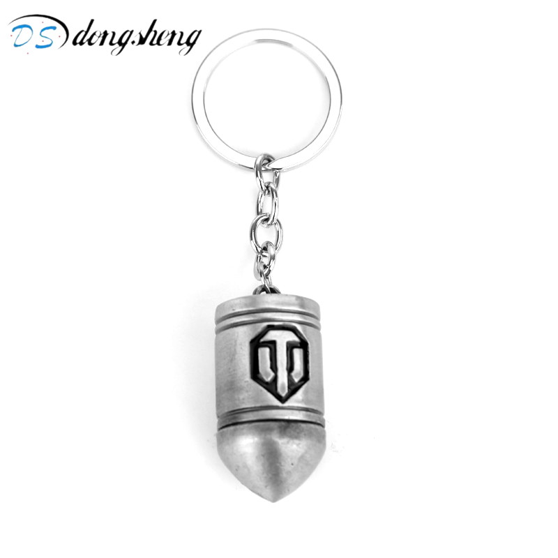 dongsheng Wot Game World Of Tanks Bullet Keychain Zinc Alloy Keyring Gift Key Chain Ring Holder For Car Personalized Keychain-50