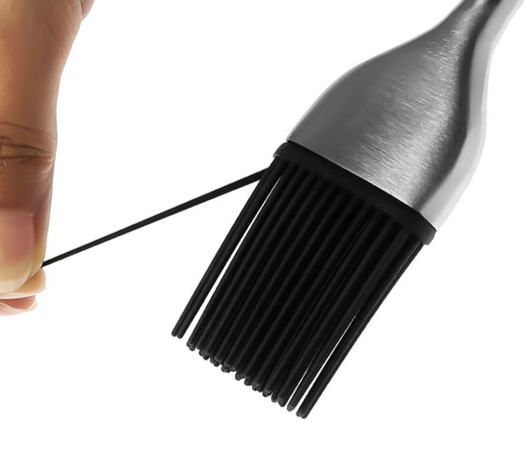 Stainless Steel Silicon BBQ Basting Sauce brush