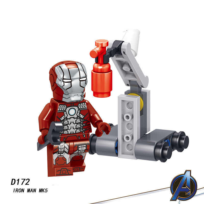 Single Sale LegoINGlys Super Heroes Avengers 4 Endgame OUTRIDER CHITAURI THOR IRON MAN MK5 Bricks Building Blocks Toys Boys Gift