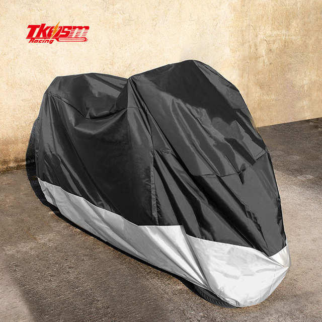 New Motorcycle Cover  Water Proof Motorcycle Black  Sliver Down with  210t Material Motocycle FOR  scooter for honda and suzuki