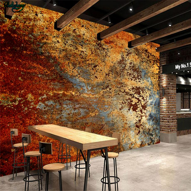 beibehang Large - scale custom wallpaper. Europe and the United States retro industrial wind cement wall murals back wall europe and the united states popular bar chairs wholesale and retail australian fashion coffee stool free shipping