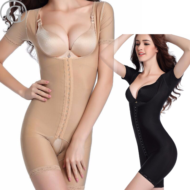 b341a98a0d21f PRAYGER Sleeves Women Recovery Full Body Shaper Hook Hold Tummy Control  Shapewear lift Bra Bodysuits Thigh