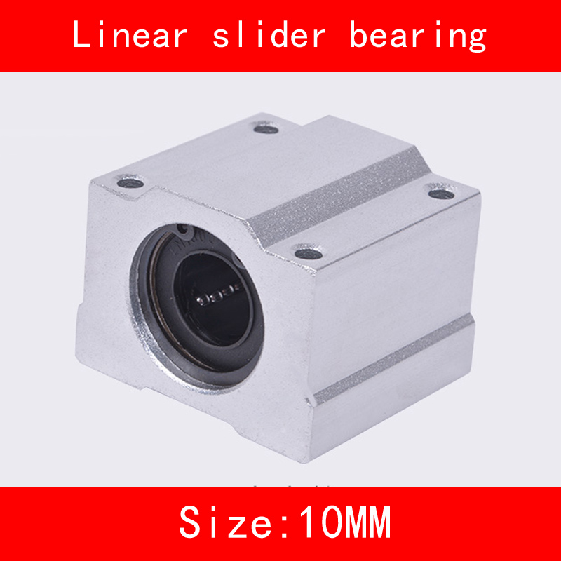 2 piece/lot SCS10UU 10mm Linear Motion Ball Bearing slider Bushing Linear Shaft for CNC For 10mm Linear Shaft scs10uu bearing 10mm shaft linear slide block slider motion ball bearing bushing steel mechanical industry parts
