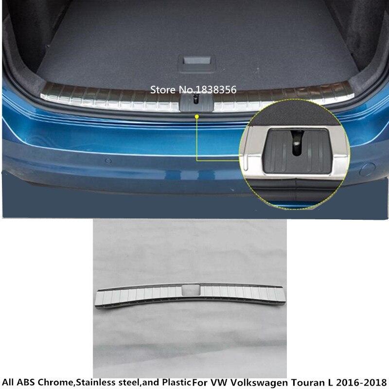 Pour VW Volkswagen Touran L 2016 2017 2018 Acier Inoxydable interne construit Arrière Pare-chocs arrière garniture plaque Tronc cadre seuil pédale