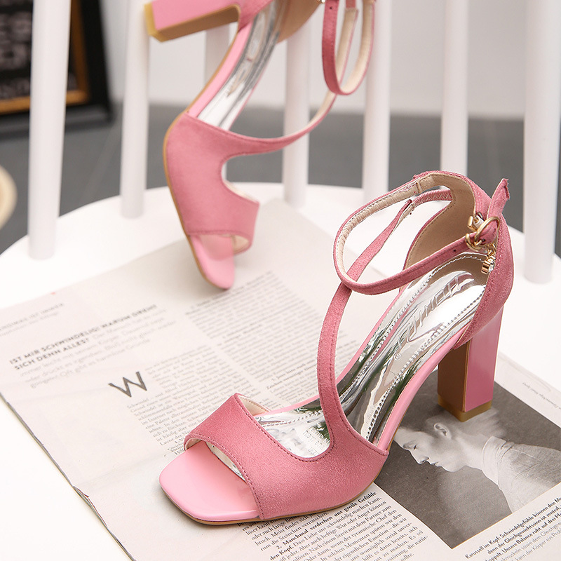 ФОТО 2016 fashion boutique new summer open-toed high-heeled sandals rough simple woman, Free Shipping