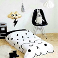 Cobertor Do Bebê Do algodão Folha Crianças Cama Cama Ângulo de Cobertura de Nuvens Folhas Mat Black & White Esteira do Jogo Infantil Do Bebê Da Criança ropa de cama