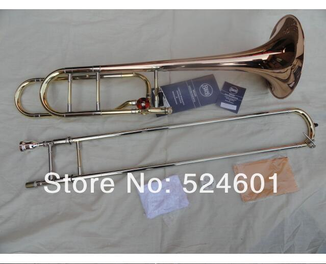 Cheap Bach 42BO Superior Sandhi  Bb Tone B flat Tenor Trombone Brass Gold Lacquer Musical Instrument Phosphor Bronze Horn