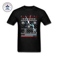 2017 Star Wars Christmas Duel Hipster Basic Tops Funny Cotton T Shirt For Men