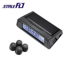 2017 Photo voltaic Energy TPMS Wi-fi Tire Stress Monitoring System Automobile tyre strain alarm System With four Exterior Sensors Participant F35