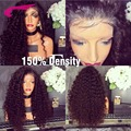 8А Бразильские Передние Парики Шнурка 150% Плотность Полный Шнурок Человеческих Волос парики Для Чернокожих Женщин Глубокая Вьющиеся Фронта Шнурка Человеческих Волос Парики
