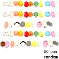 50 Pcs Pack Squishy Slow Rising Bread Cake Bun Pendant Charm Toy Stretchy Squeeze Cream Scented