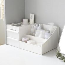 Большая емкость, косметический ящик для хранения, органайзер для макияжа, туалетный столик, стойка для ухода за кожей, домашний контейнер для мобильного телефона, мелочи