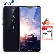 Nokia X6/6.1plus Mobile Phone 5.8 inch 18:9 FHD 6+64G Snapdragon 636 Octa Core 16.0MP+5.0MP Camera Fingerprint ID Smartphone