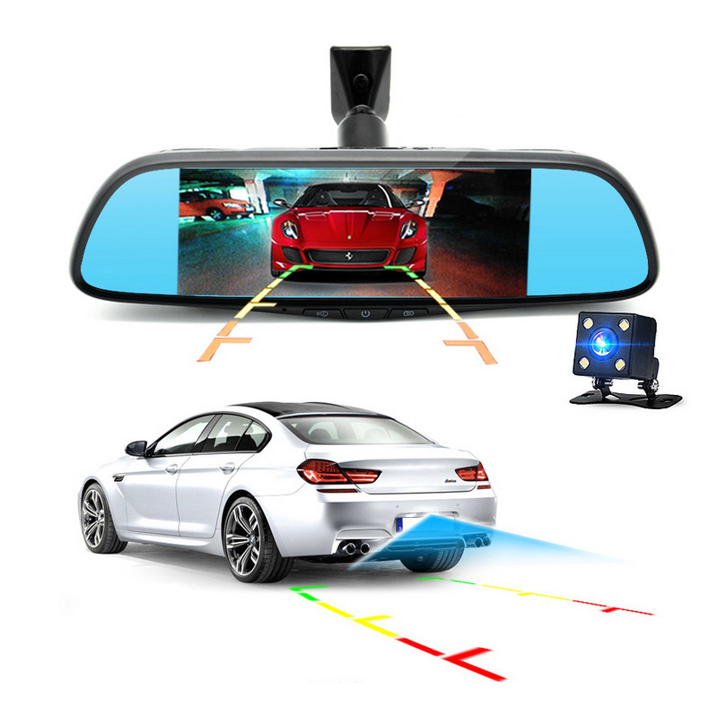 FHD Rearview Car DVR Camera GPS Bluetooth Mirror Video Recorder 1080P Dual Lens 3G 7 inch Auto DVRs Android 5.0 Dash Cam ...