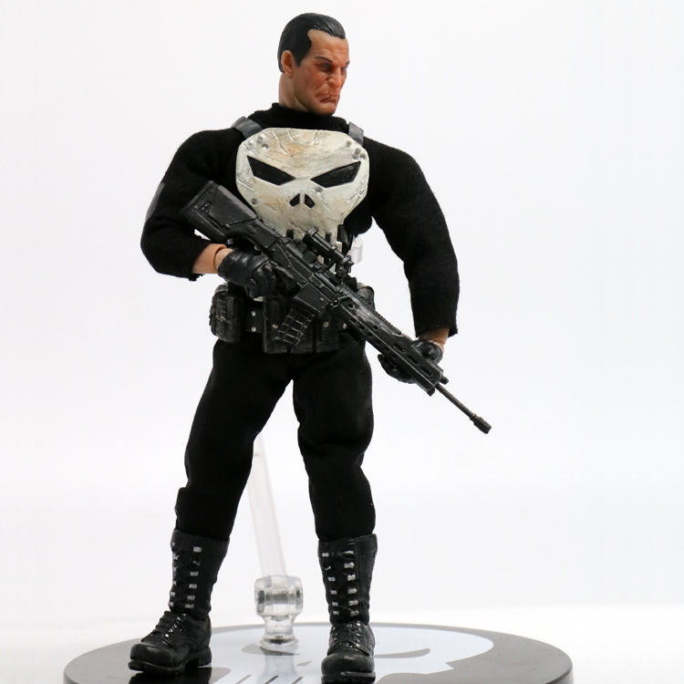 2017 High quality 15cm Anime figure one:12 he Punisher action figure collectible model toys for boys 15cm anime figure daredevil action figure collectible model toys for boys