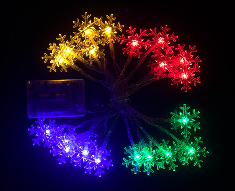 aliexpresscom buy new year christmas decoration 20 led battery white snowflake string lights mini rope lighting frozen garden outdoor decor from reliable