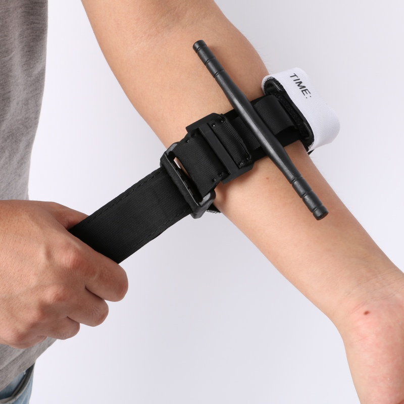 Outdoor Hiking Portable First Aid Quick Slow Release Buckle Medical Military Tactical Emergency Tourniquet Strap One Hand 1Pcs