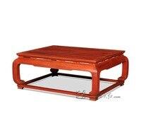 Новый современный палисандр прямоугольник Чай столик в китайском Ретро Античная Малый обеденный стол Гостиная мебель массивная деревянна...