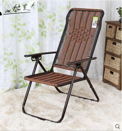 PE Rattan Chair Recreational Chair Comfortable Cane Armchair Balcony Chair  Back Folding Chair In Chaise Lounge From Furniture On Aliexpress.com |  Alibaba ...