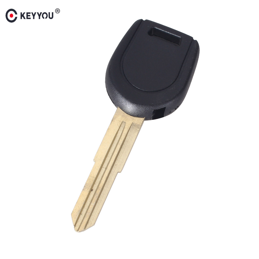 KEYYOU 10X Replacement Transponder Key Shell Left Blade For Mitsubishi Eclipse Galant Endeavor Transponder Key