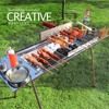 Full Automatic Rotating Stainless Steel Grill Charcoal Barbecue Grill Outdoor Large Commercial BBQ