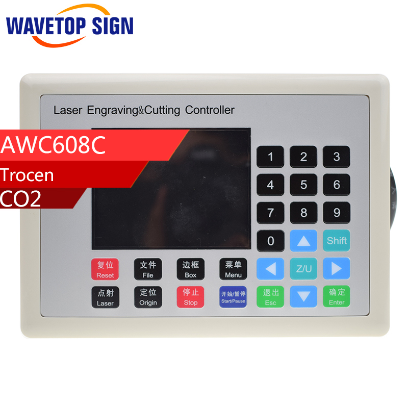 Trocen Anywells AWC608C control panel Co2 Laser Controller use for laser cutter and laser engraving machine co2 laser machine laser path size 1200 600mm 1200 800mm