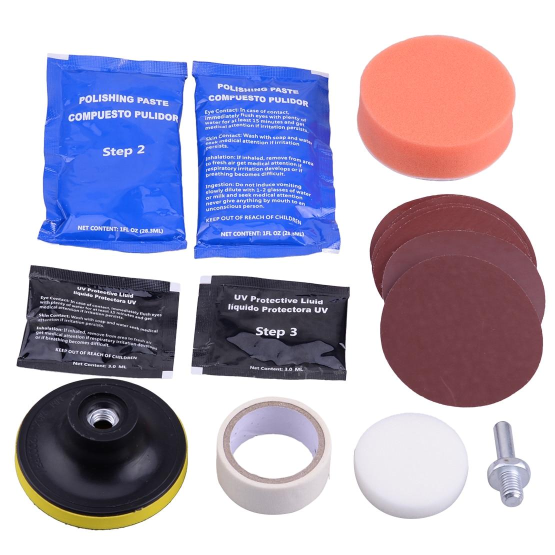 DWCX Car Auto Headlight Lens Restoration Kit Restorer System Professional Polishing Cleaning Tool Universal
