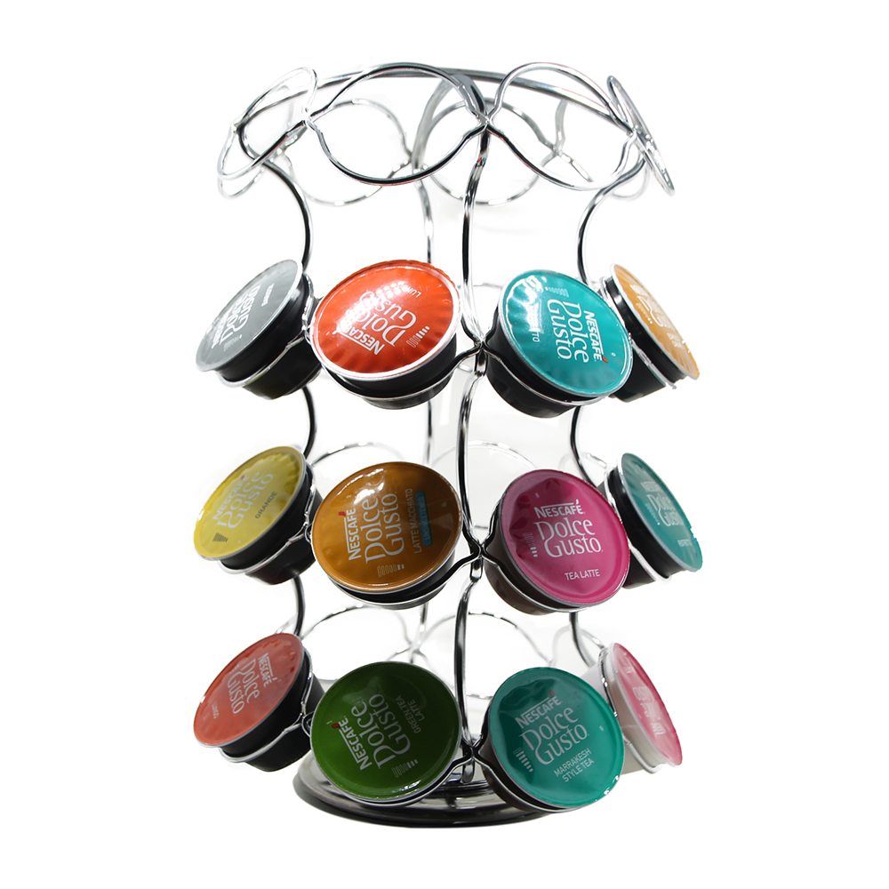 Coffee Capsule Pod Holder 360 Degree Rotating Removable Tower Rack Storage Organizer for Hold 36 Pcs Dolce Gusto Capsules Pods