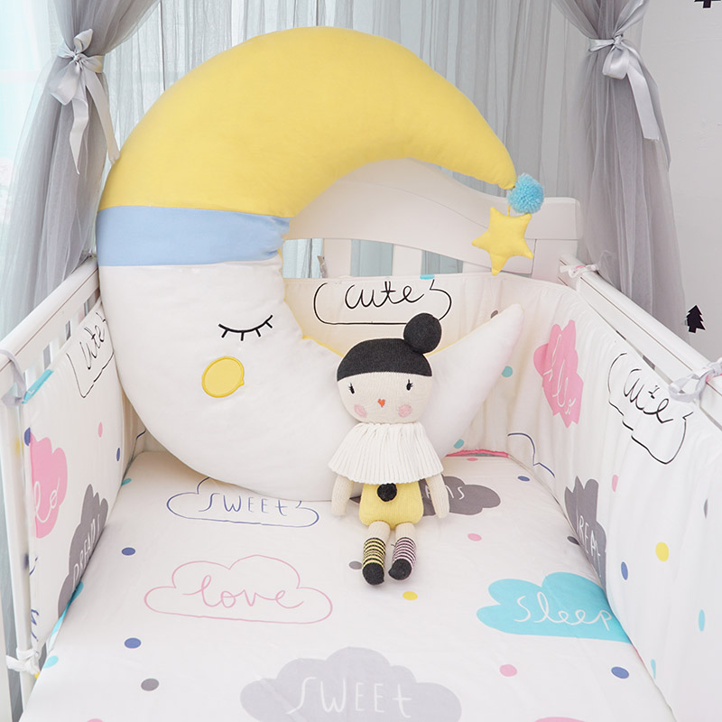 muslinlife 3colors moon baby sleeping pillows sweety kids room decorative pillows kids girls. Black Bedroom Furniture Sets. Home Design Ideas