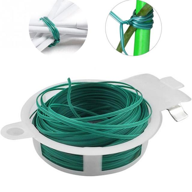US $2 84  50/100m Plants Ties Plant Organizer Binding Diy Cable Wire  Grafting Twist Plastic Gardening accessories-in Nursery Trays & Lids from  Home &