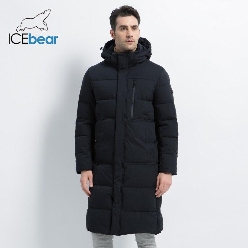 2019 neue männer Winter Jacke Lange Mantel der Männer mit Zipper Mit Kapuze Männlichen Mäntel Hohe Qualität Mann Winter Marke kleidung MWD19913D - 3