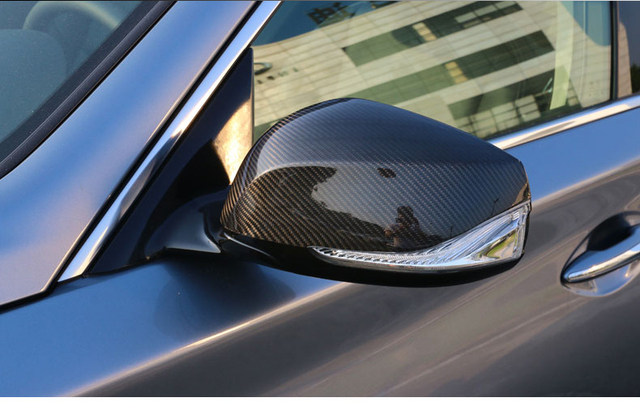Pair Replacement Carbon Fiber Side Mirror Cover For