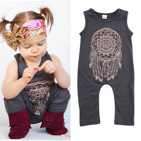 Fashion Infant Baby Girls Kids One-Piece Romper Jumpsuit Outfit Clothes 0-5 Year