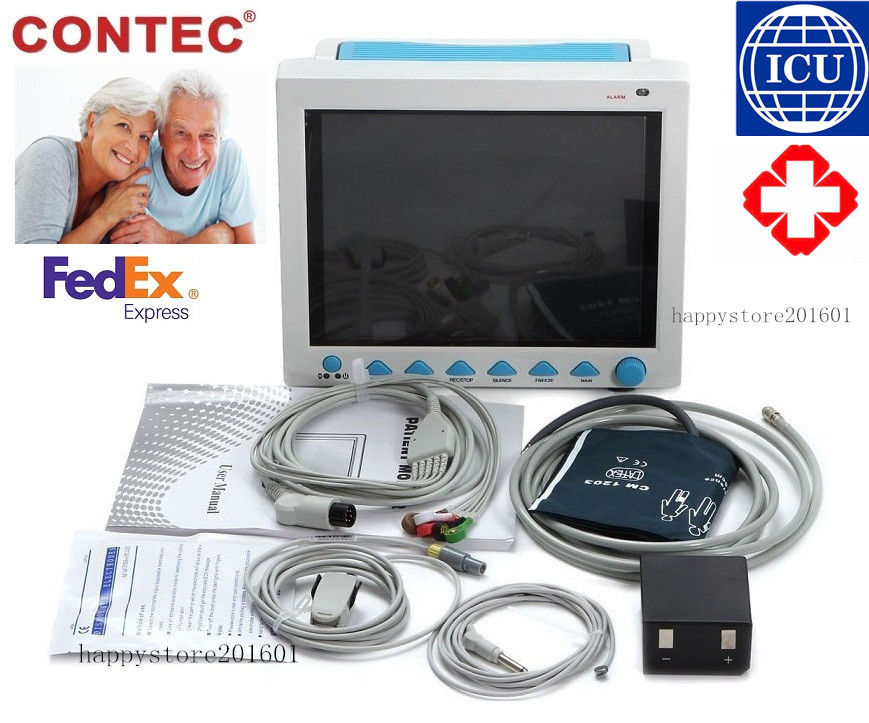 US seller ICU CE Patient Monitor 6 parameter Vital Sign ECG NIBP RESP TEMP SPO2 Pr FDA ,CONTEC ,CMS8000,1 Year Warran gpyoja 2016 hot selling multi parameter ecg nibp spo2 pr temp resp tablet patient monitor