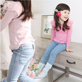 Fashion Kids Child spring autumn Girl trousers Children Jeans for Girls Jeans Pants bowties